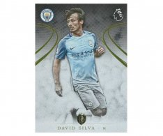 2016 Topps Gold Premier League 82 David Silva Manchester City