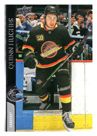 2020-21 UD Series One 175 Quinn Hughes - Vancouver Canucks