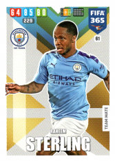 Fotbalová kartička Panini Adrenalyn XL FIFA 365 - 2020 Team Mate 61 Raheem Sterling Manchester City