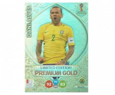 Fotbalová kartička Panini Adrenalynl XL World Cup Russia 2018 Limited Edition Premium Gold Dani Alves