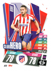 fotbalová kartička Topps Match Attax Champions League 2020-21 ATL2 Koke Club Hero Atletico Madrid