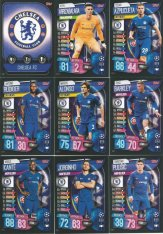 2019-20 Topps Match Attax Champions League Týmový set Chelsea FC