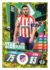 fotbalová kartička Topps Match Attax Champions League 2020-21 Star Player SP3 Koke - Atlético de Madrid