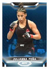 2020 Topps UFC Knockout 74 Julianna Peña - Bantamweight /75