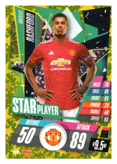 fotbalová kartička Topps Match Attax Champions League 2020-21 Star Player SP9 Marcus Rashford - Manchester United