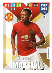 Fotbalová kartička Panini Adrenalyn XL FIFA 365 - 2020 Team Mate 79 Anthony Martial Manchester United