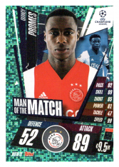fotbalová kartička 2020-21 Topps Match Attax Champions League Extra Man of the Match MOTM22 Quincy Promes AFC Ajax