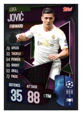 Fotbalová kartička 2019-2020 Topps Match Attax Champions League Super Squad Luka Jovic SS15 Real Madrid CF