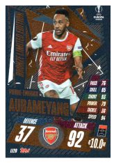 fotbalová kartička 2020-21 Topps Match Attax Champions League Extra Limited Edition LE2B Piere Emerick Aubameyang Arsenal