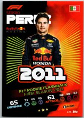 2021 Topps Formule 1 Turbo Attax Rookie Flashback 174 Sergio Perez Red Bull