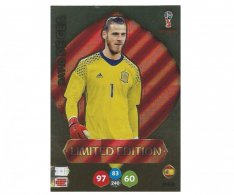Fotbalová kartička Panini Adrenalynl XL World Cup Russia 2018 Limited Edition David De Gea