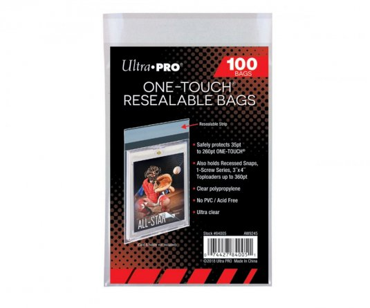 Ultra Pro One Touch Resealable bags 100ks