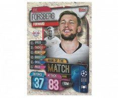 Fotbalová kartička 2019-2020  Topps Champions League Match Attax -  Man of the Match Emil Forsberg RB Leipzig