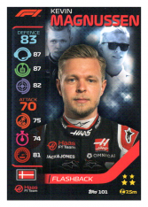 2020 Topps Formule 1 Turbo Attax 101 Flashback Kevin Magnussen Haas F1