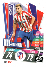 fotbalová kartička Topps Match Attax Champions League 2020-21 ATL3 Héctor Herrera All Rounder Atletico Madrid