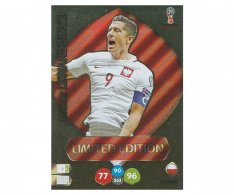 Fotbalová kartička Panini Adrenalynl XL World Cup Russia 2018 Limited Edition Robert Lewandowski