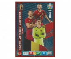 Panini Adrenalyn XL UEFA EURO 2020 Multiple The Wall 433 Courtois Fertonghen Alderweireld  Belgium