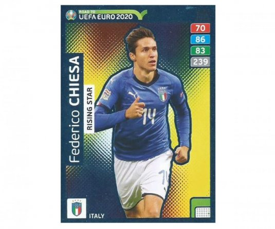 Fotbalová kartička Panini Adrenalyn XL Road to EURO 2020 -  Rising Star - Federico Chiesa - 286