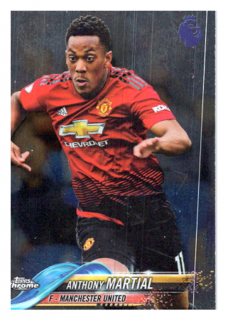2018-19 Topps Chrome Premier League 96 Anthony Martial Manchester United