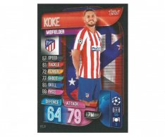 Fotbalová kartička 2019-2020  Topps Champions League Match Attax - Koke - Atletico Madrid 8