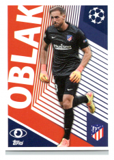 2020-21 Topps Champions League samolepka ATM2 Jan Oblak Atletico Madrid