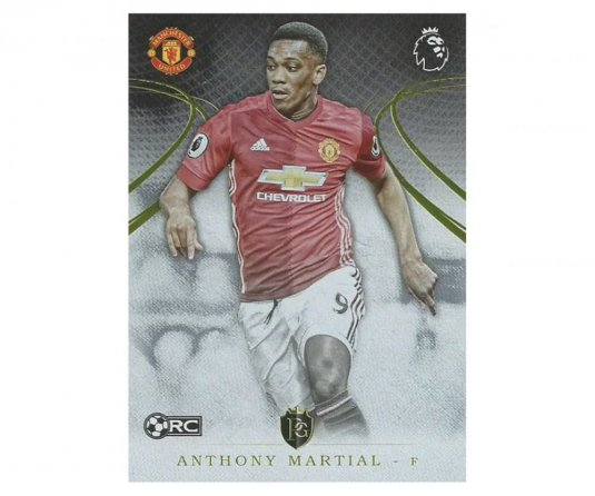 2016 Topps Gold Premier League 30. Anthony Martial Manchester United RC