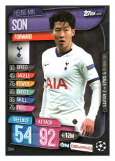 2019-20 Topps Match Attax On Demand OD64 Heung-Min Son Tottenham Hotspur