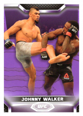 2020 Topps UFC Knockout 67 Johnny Walker - Light Heavyweight /25