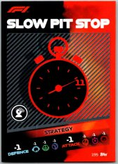 2021 Topps Formule 1 Turbo Attax Strategy Card 195 Slow Pitstop