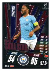 fotbalová kartička 2020-21 Topps Match Attax Champions League Extra Super Skill Star SKI13 Raheem Sterling Manchester City