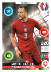Panini Adrenalyn XL EURO 2016 Team Mate 51 Michal Kadlec Česká Republika