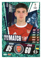 fotbalová kartička 2020-21 Topps Match Attax Champions League Extra Man of the Match MOTM5 Kieran Tierney Arsenal