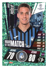 fotbalová kartička 2020-21 Topps Match Attax Champions League Extra Man of the Match MOTM12 Mario Pasalic Atalanta BC