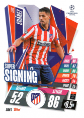 fotbalová kartička 2020-21 Topps Match Attax Champions League SIGN1.  Luis Suárez Club Atlético de Madrid