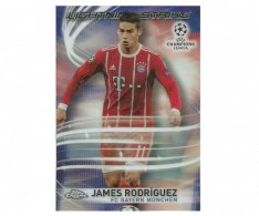 Fotbalová kartička Topps Chrome 2017-18 Champions League Lightning Strike LS-JR James Rodriguez Bayern Munchen
