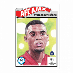 Fotbalová kartička Topps Living Set 266 Ryan Gravenberch AFC Ajax RC