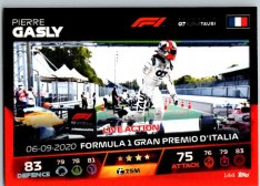 2021 Topps Formule 1 Turbo Attax Live Action 144 Pierre Gasly AlphaTauri