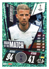 fotbalová kartička 2020-21 Topps Match Attax Champions League Extra Man of the Match MOTM4 Toby Alderweireld Tottenham Hotspur