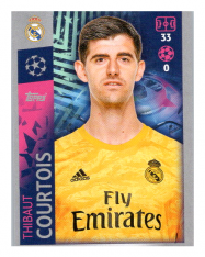 2019-20 Topps Champions League samolepka 387 Thibault Courtios Real Madrid CF