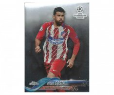 Fotbalová kartička Topps Chrome 2017-18 Champions League 81 Diego Costa – Club Atlético De Madrid