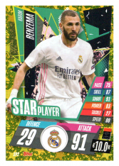 fotbalová kartička Topps Match Attax Champions League 2020-21 Star Player SP2 Karim Benzema - Real Madrid CF