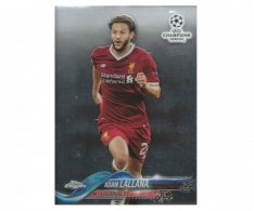 Fotbalová kartička Topps Chrome 2017-18 Champions League 19 Adam Lallana – Liverpool FC