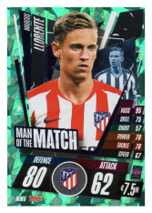 fotbalová kartička Topps Match Attax Champions League 2020-21 Man of the Match MM5 Marcos Llorente - Atlético de Madrid