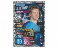 Fotbalová kartička 2019-2020  Topps Champions League Match Attax -  Man of the Match Kevin De Bruyne Manchester City