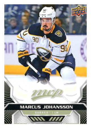 2020-21 UD MVP 43 Marcus Johansson - Buffalo Sabres