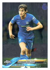 2018-19 Topps Chrome Premier League 78 Marcos Alonso Chelsea FC