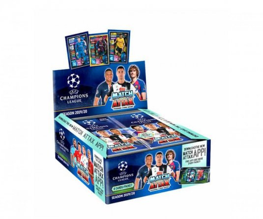 2019-2020 Topps Champions League Match Attax karty - Box (30 balíčků)