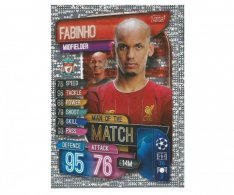 Fotbalová kartička 2019-2020  Topps Champions League Match Attax -  Man of the Match Fabinho  FC Liverpool
