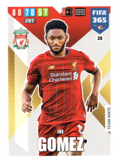 Fotbalová kartička Panini Adrenalyn XL FIFA 365 - 2020 Team Mate 39 Joe Gomez Liverpool FC