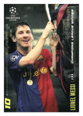 2020 Topps LM Greatest Goals Lionel Messi  2009 Champions League Winner